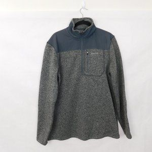Eddie Bauer Fleece Pullover Sweater Gray Large Tall